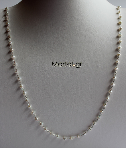 Κολιέ με νιφάδες μαργαριταριών - Martal.gr 0956689a421