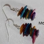 Πολύχρωμα σκουλαρίκια με Φίλντισι