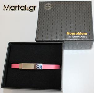 Μαγνητικό βραχιόλι τιτανίου - σιλικόνης ροζ με κουτί συσκευασίας