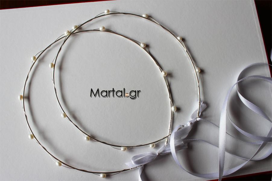 Χειροποίητα ασημένια στέφανα γάμου με μαργαριτάρια - Martal.gr 2a896cb55d7
