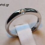 Δαχτυλίδι υπέροχο με ζιργκόν και ασήμι 925