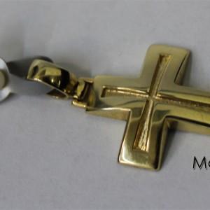 Βαπτιστικός Σταυρός Χρυσός με χάραξη και αλυσίδα - Martal.gr adb90cb6779
