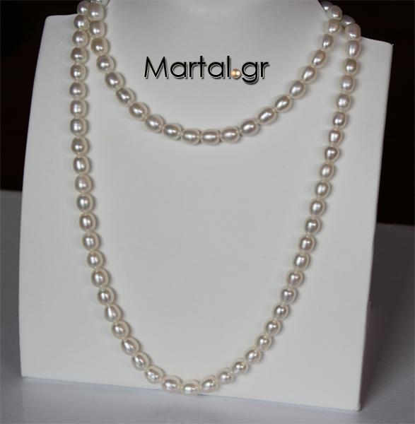 Μακρύ κολιέ με μαργαριτάρια - Martal.gr 8e08f6c0c10