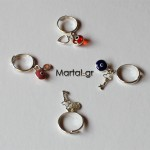 Δαχτυλίδια σεβαλιέ χρωματιστά από ασήμι 925