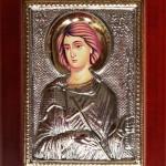 Εικόνα Ασημένια Άγιος Φανούριος 18Χ24