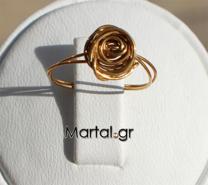 Δαχτυλίδι χειροποίητο τριαντάφυλλο από επιχρυσωμένο ασήμι - Martal.gr 4bb25965f43