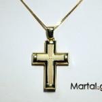 Ανδρικός Σταυρός 14Κ με αλυσίδα