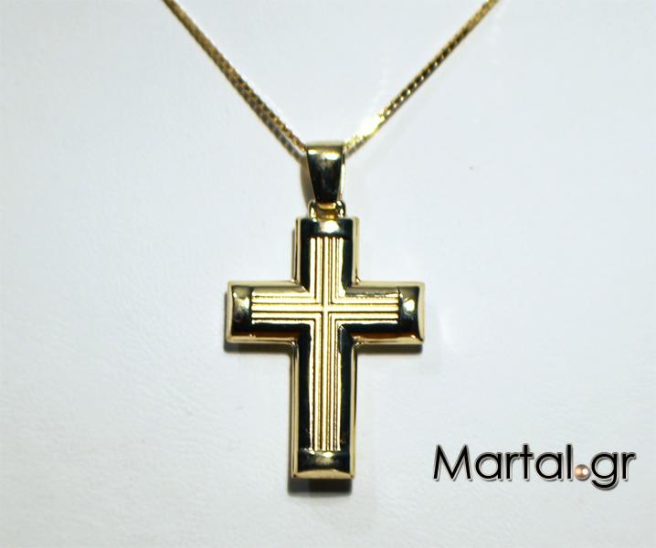 Ανδρικός σταυρός 14Κ με αλυσίδα - Martal.gr 0a1b197dc98