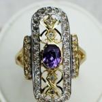 Φανταστικό δαχτυλίδι Amethyst Beauty από χρυσό 14Κ