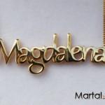 Μενταγιόν Όνομα από χρυσό 14Κ με αλυσίδα