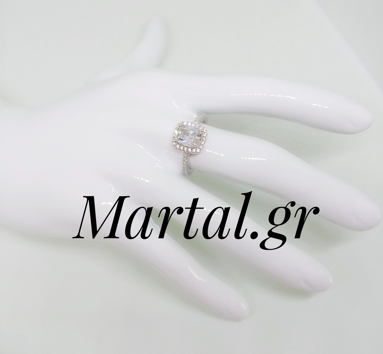 Μονόπετρο δαχτυλίδι από ασήμι 925 - Martal.gr e091acf4e4f