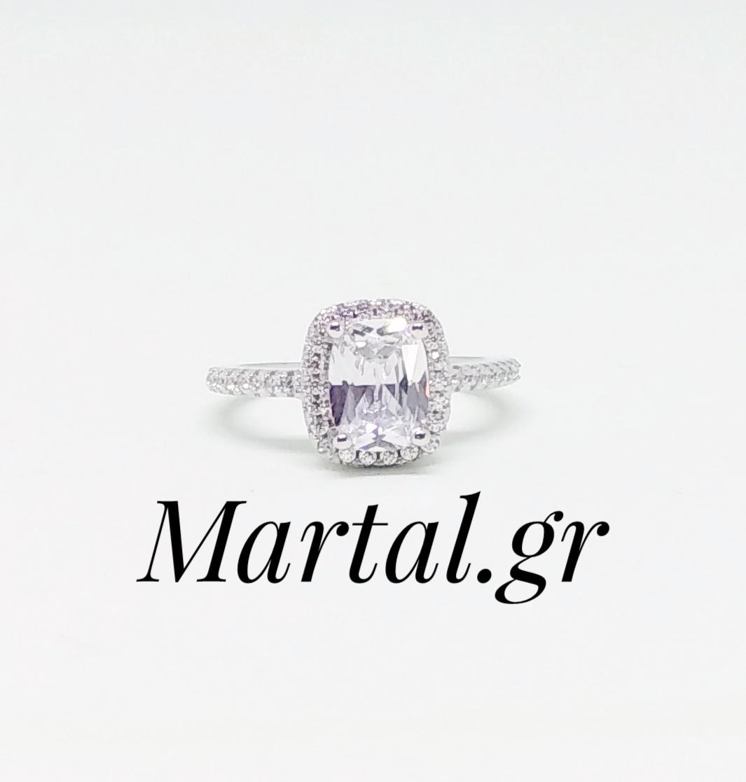 Μονόπετρο δαχτυλίδι από ασήμι 925 - Martal.gr dbeb6e77cf6